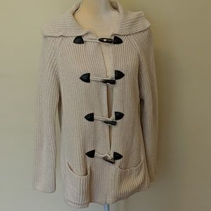 Jeanne Pierre button patch 100% cotton sweater